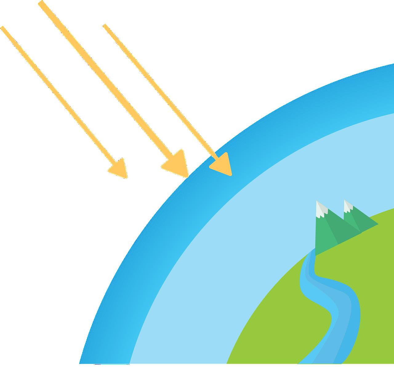 Illustrazione relativa la buco dell'ozono